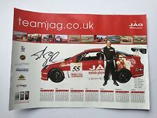 John George Hand Signed Touring Cars Poster.