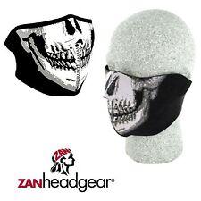 Zan Headgear Neoprene Half Face Mask Skull Dirtbike Motorcycle Riding Cold Gear
