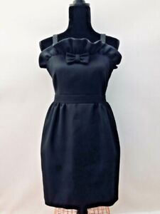 Rrp-230-Designer-Jaeger-Vintage-Audrey-Hepburn-60s-Style-Black-Mini-Dress-12
