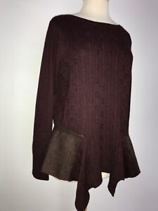 NEW-Anthropologie-Knitted-Knotted-Cable-Knit-Sweater-Size-XL