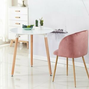 White Dining Table Round Kitchen Small