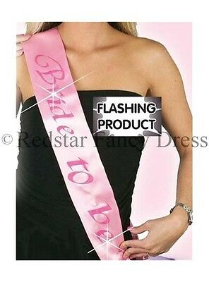 Pink Flashing Hen Party Garter Hen Do Ladies Night Out Novelty Favour Gift NEW