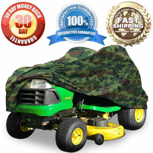 Camouflage Riding Lawn Mower Cover Tractor Garden Tractor Fabric Weather Resist