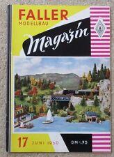 Faller  AMS --  Modellbau Magazin 17 von 1960 !