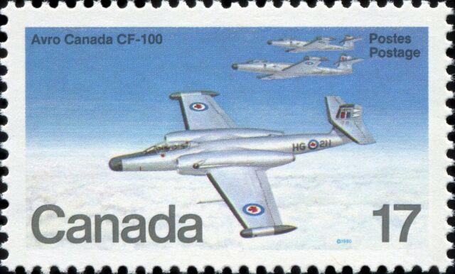 Canada Scott 873 Avro Canada CF-100 (1950) VF-81 MNH OG (20758)