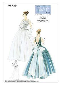 Image Is Loading Vogue SEWING PATTERN V8729 Misses Wedding Dress Ball