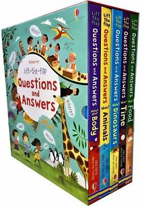 Usborne-Lift-the-flap-Questions-and-Answers-5-Books-Collection-Set-Animals-Body