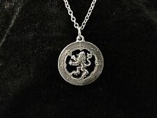 Handcast 925 Sterling Silver Scottish Rampant Lion Pendant FREE Cable Chain