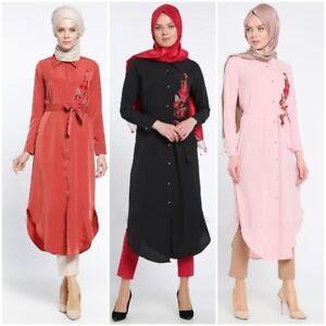 749d1e8f00bc Image is loading Kaftan-Women-Long-Sleeve-Shirt-Dress-Muslim-Loose-