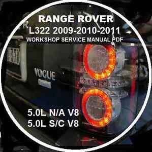 range rover l322 2009 2010 11 5 0l n a s c v8 3 6 tdv8 workshop rh ebay com au Range Rover Sport Range Rover Evoque