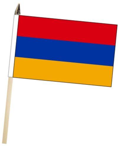 Armenia Large Hand Waving Courtesy Flag