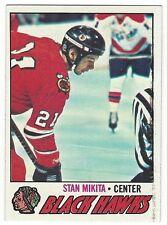 1977-78 TOPPS HOCKEY #195 STAN MIKITA - EXCELLENT-