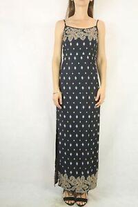 ELEMENT-Black-Print-Maxi-Dress-Size-10
