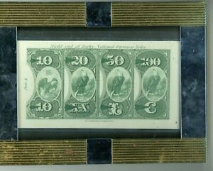 1870'S $10,$20,$50,$100 NAT'L CURRENCY EAGLES ABNC HEATH'S COUNTERFEIT DETECTOR