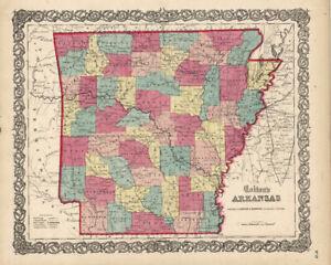 1860-Colton-039-s-034-ARKANSAS-034-original-ex-atlas