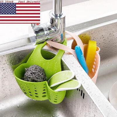 Bathroom Hanging Strainer Organizer Storage Rack Kitchen Sink Sponge Holder