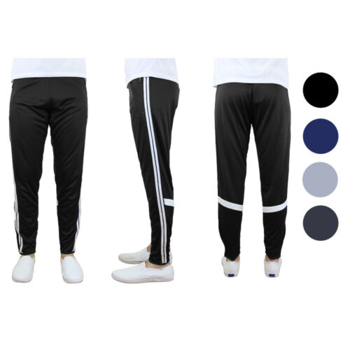Galaxy by Harvic Mens Track Pants Moisture Wicking Active Training Cross Fit
