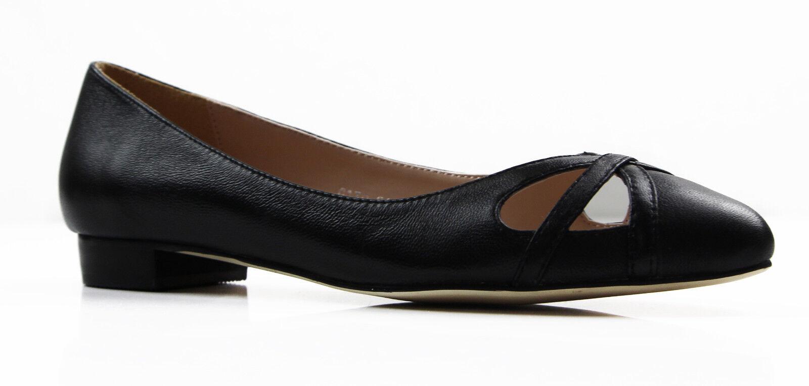 NEW LADIES Damenschuhe Damenschuhe LADIES BLACK ZASEL LEATHER FLAT POINTY FLATS DRESS WORK CASUAL Schuhe 4a4f33