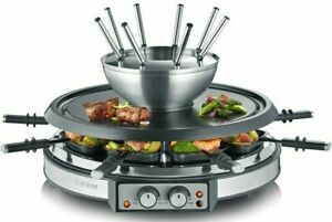 Severin-Raclette-Fondue-Combination-Grill-Table-Grill-Raclette-Grill-1900W-8-Pers