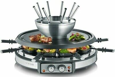 Details zu SEVERIN Raclette Fondue Kombination Grill Tischgrill Raclettegrill 1900W 8 Pers.