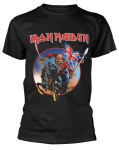 Iron-Maiden-039-Euro-Tour-039-Black-T-Shirt-NEW-amp-OFFICIAL