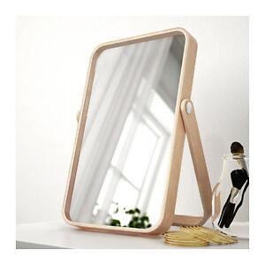 wooden ikea bathroom vanities | IKEA IKORNNES Table Mirror Bathroom Vanity Bedroom Ash ...