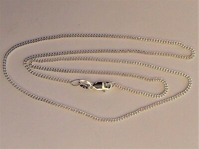 New Genuine Solid 925 Sterling Silver Ladies Diamond Cut Curb Necklaces 45 cm