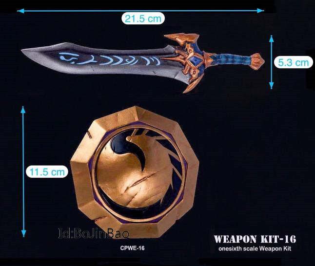 1 6 WOW Weapon Kits Draconian Deflector Quel'Serrar Quel'Serrar Quel'Serrar Sword Shield Model PVC KIT16 b371a7