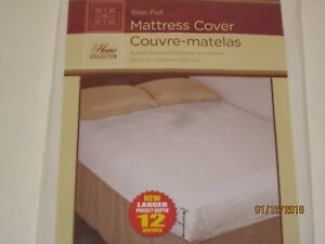 Fitted Plastic Mattress Protector Lightweight Cover Bed Wetting
