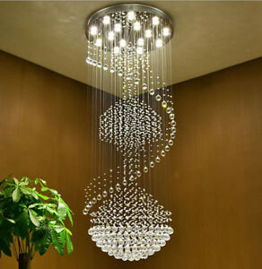 Image Is Loading Stairs Chandelier Lamp Modern Simple Duplex Villa Living