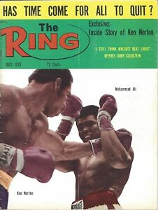 1973-July-The-Ring-boxing-magazine-Muhammad-Ali-Ken-Norton-GOOD-fold