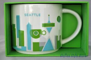 Details About New Starbucks Mug Seattle City You Are Here Collection Coffee Cup Washington
