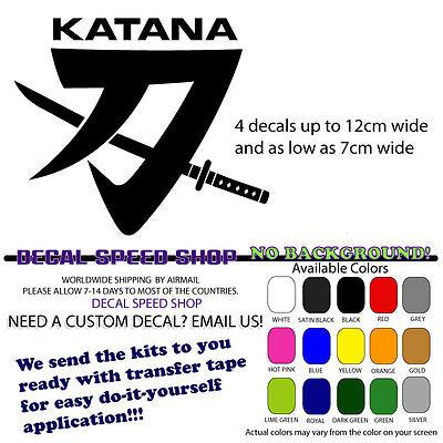 Katana Suzuki GSX600 750 Decals x2 =Quality Vinyl Decal Any Colour Best Price Uk