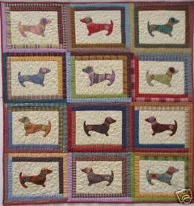 Quilt Pattern Hot Diggity Dog Dachshund Applique Puppy 857763006011