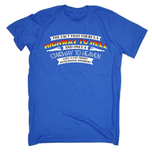 Il fatto Scalinata Highway Da Uomo T-shirt Tee Compleanno FASHION Sbornia Alcolici Divertenti