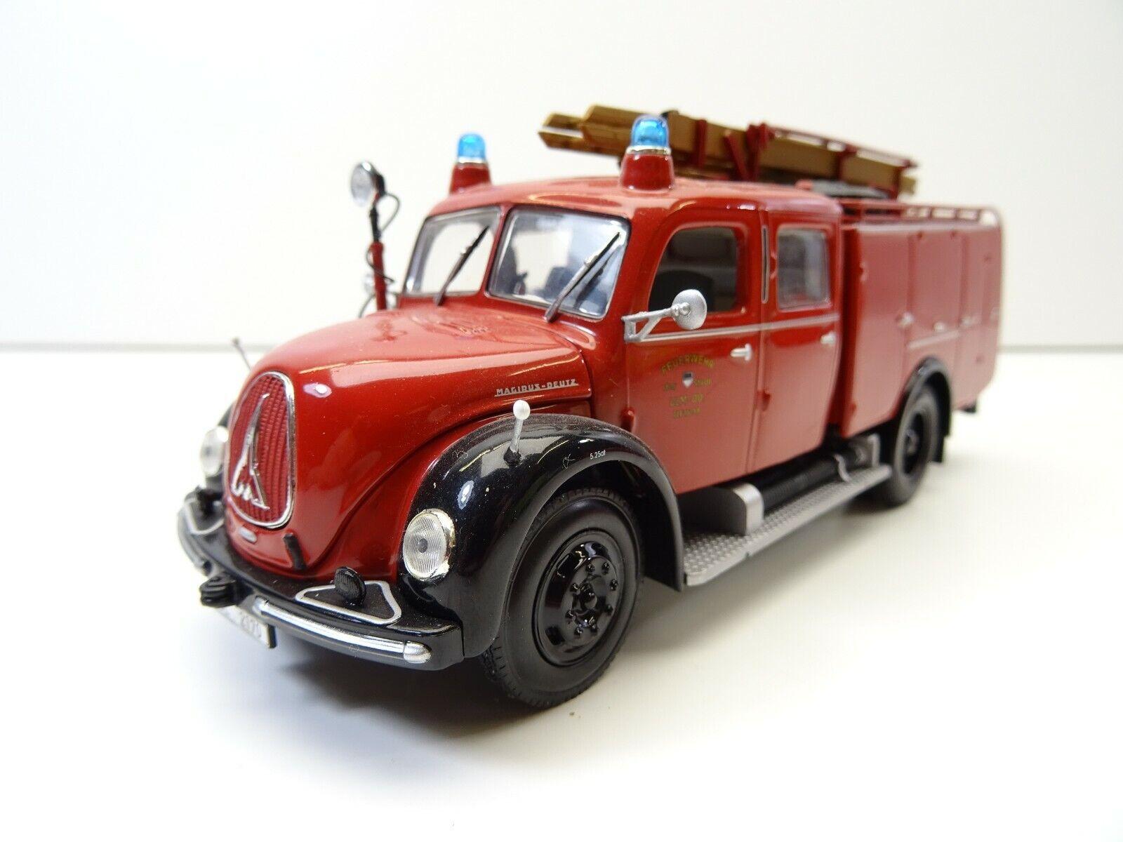 1 43 Minichamps 439141070 Magirus Deutz Tlf 1959 bomberos ciudad Ulm c4047