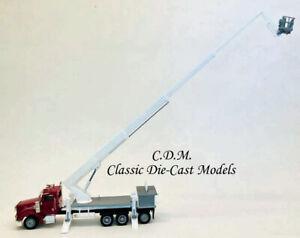 Peterbilt-367-Burgundy-Boom-Truck-w-Working-Boom-HO-1-87-Promotex-6533-BR