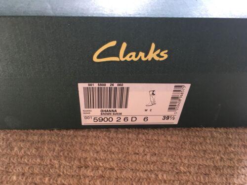5 marrón gamuza de Clarks Bnib 6 Ohanna oscuro 39 Tamaño Botas xqg06nSwP