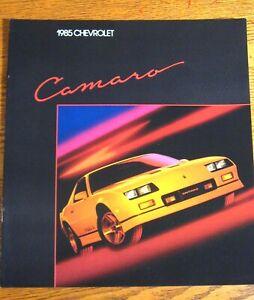 1985-Chevrolet-Camaro-Brochure-Sport-Coupe-Berlinetta-Z28-Original-Xlnt