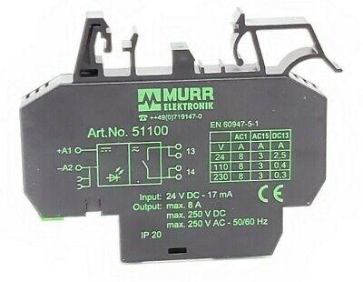 Murr Elektronik D-71570 9000-41034-0100600 Relay Module 66147-3.04-3.04 24VDC