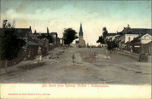 Grahamstown-Grahamstad-Suedafrika-South-Africa-1910-Hill-Street-Railway-Station