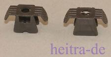LEGO Ninjago - 2 x Rüstung / Brustpanzer perl - dunkelgrau / 30174 NEUWARE