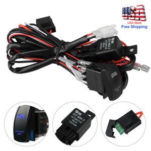 12V LED Light Bar Rocker Switch ON-OFF 40A Relay Wiring Harness Kit For  JEEP ATV | eBayeBay