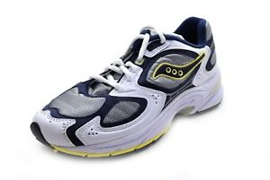 the best attitude e78cf cdbd6 Details about Saucony Women's Grid Jazz 9 Running Shoes White/Navy/Yellow  Size 5 - NIB