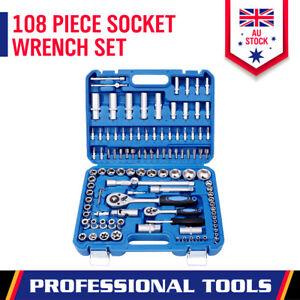 108Pc-Socket-Ratchet-Wrench-Set-1-2-1-4-034-External-Torx-Screwdriver-Bit-Extension