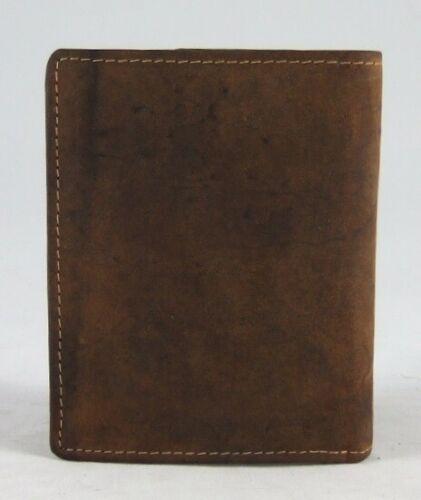 GreenBurry Geldbörse mit Tier-Motiv aus Rind-Leder Scheintasche Geldbeutel 1701