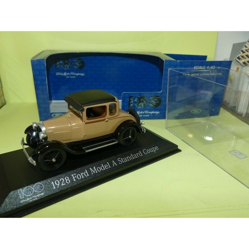 FORD MODEL A STANDARD COUPE 1928 brown MINICHAMPS 1 43