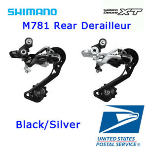 Silver SHIMANO RD-M781 XT Rear 10 Speed Derailleur with Long Cage