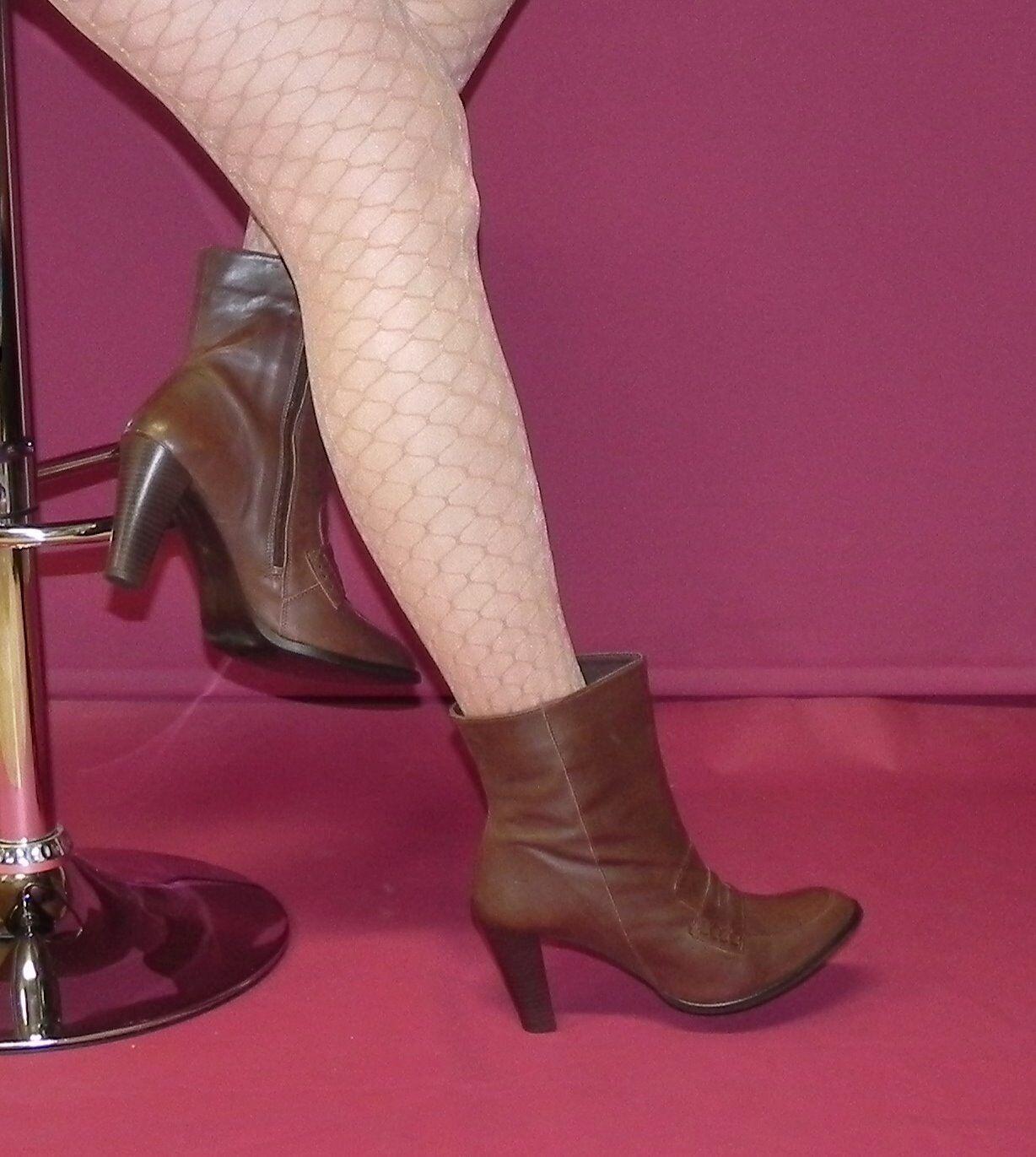Chillany-marrones botines de suave cuero genuino