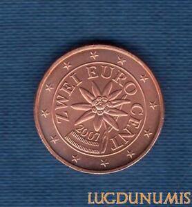 Autriche 2007 2 Centimes d'euro SUP SPL Provenant de rouleau - Austria